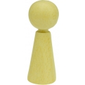 houten pop 3,6cm hoog, 1 stuks