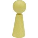 houten pop 3,6cm hoog, 10 stuks