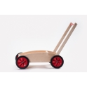 Houten kinderduwwagen rood ADO