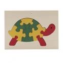 ADO houten puzzel in kader schildpad