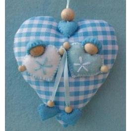 Blauw babyhart