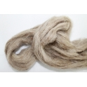 Schapenwol (100 gram) gewassen en gekaard beige