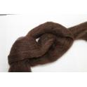 Schapenwol (100 gram) gewassen en gekaard d. bruin