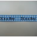 Lint 'It's a boy' blauw