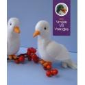 Pakket witte duifjes