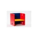 Gekleurde kleuter houten kubusstoel  ADO